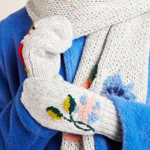 ANTHRO Nathalie Lete Luxembourg Embroidered Mitten